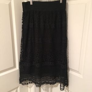 🐥 J Gee Black Lace Skirt